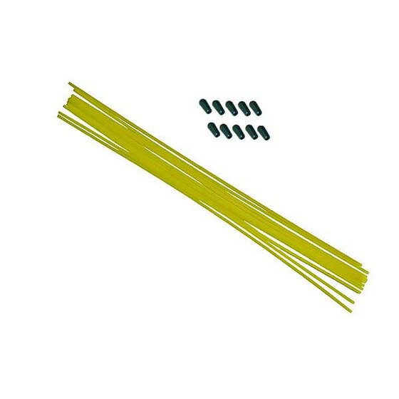 Yellow antenna pipe with cap (10pcs)