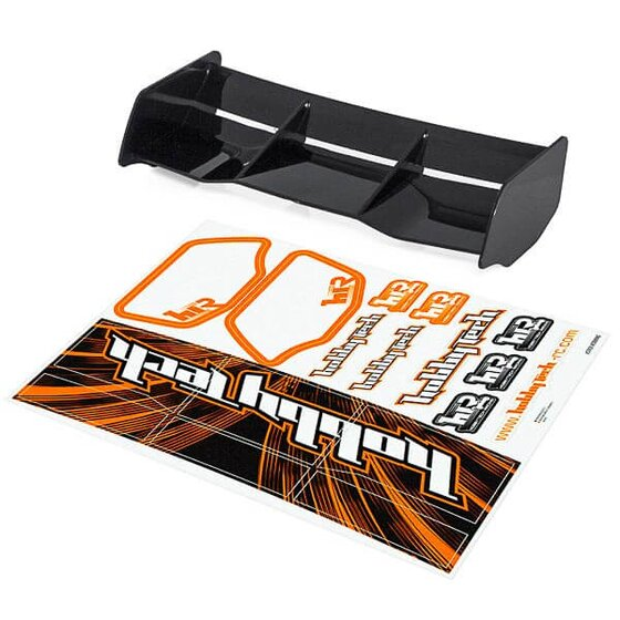 Buggy Wing 1/8 Racing HTR Style black + Decals