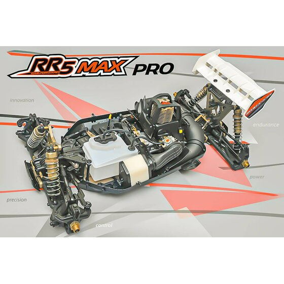 RR5 Buggy Max Pro CF Rolling Chassis incl. Pipe