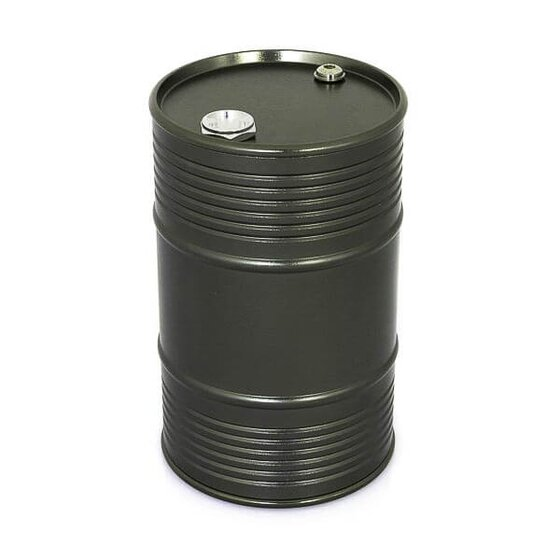 Oil drum aluminum large dark gray