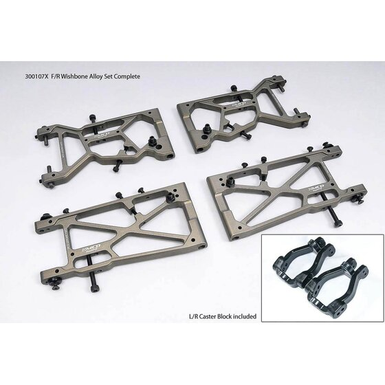 F/R Wishbone Alloy Set Complette (Opt.)