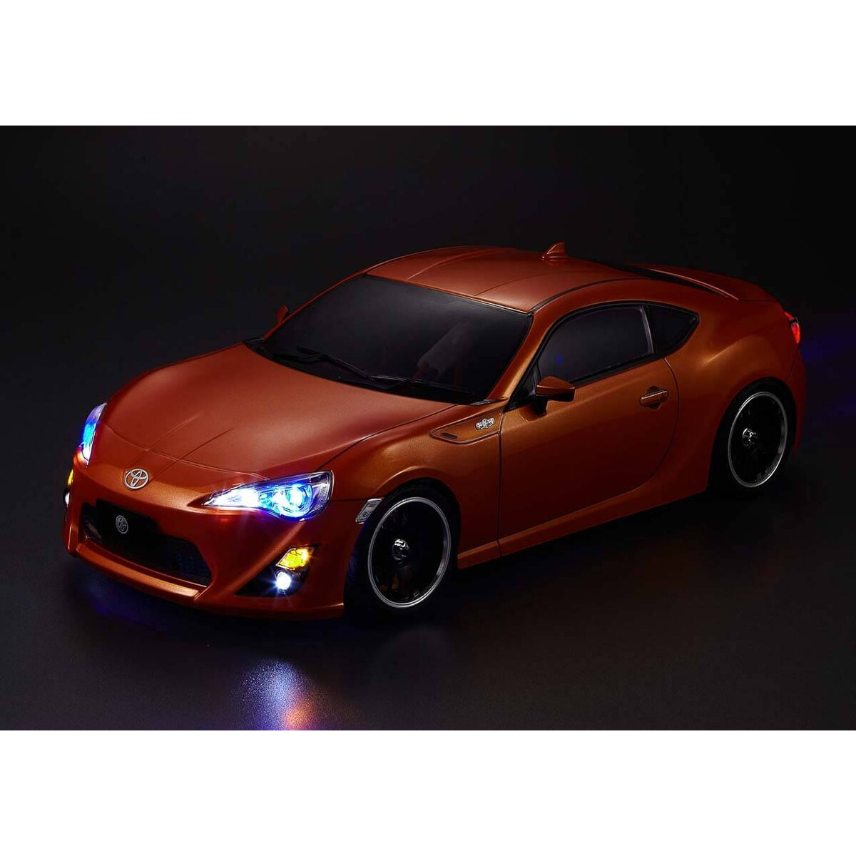Killerbody 86 Finished RC Car Body Shell Metallic-Orange Printed Light Buckets